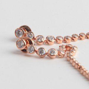 henri bendel Jewelry - Henri Bendel Simple Zircon Long Earrings